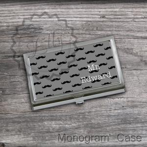 Mustaches Business Card Holders - C..