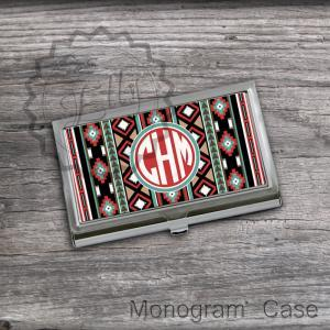 Monogrammed Card Holders - Aztec pa..