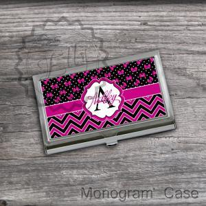 Personalized Card Holder - Hot Pink..