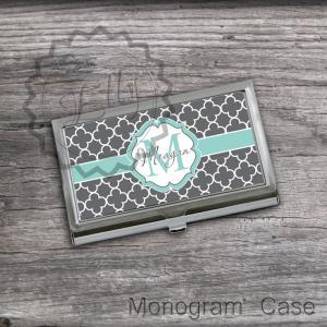 Classic Gray Personalized Card Hold..