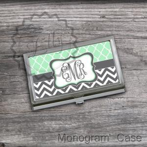 Mint and Charcoal customized Card H..