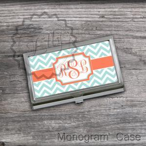 Orange and Tiffany Business Card Ho..