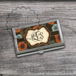 Floral Personalized Card Holder - C..
