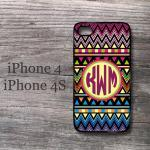 Aztec iPhone case personalized mono..