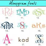 Personalized license plate monogram..