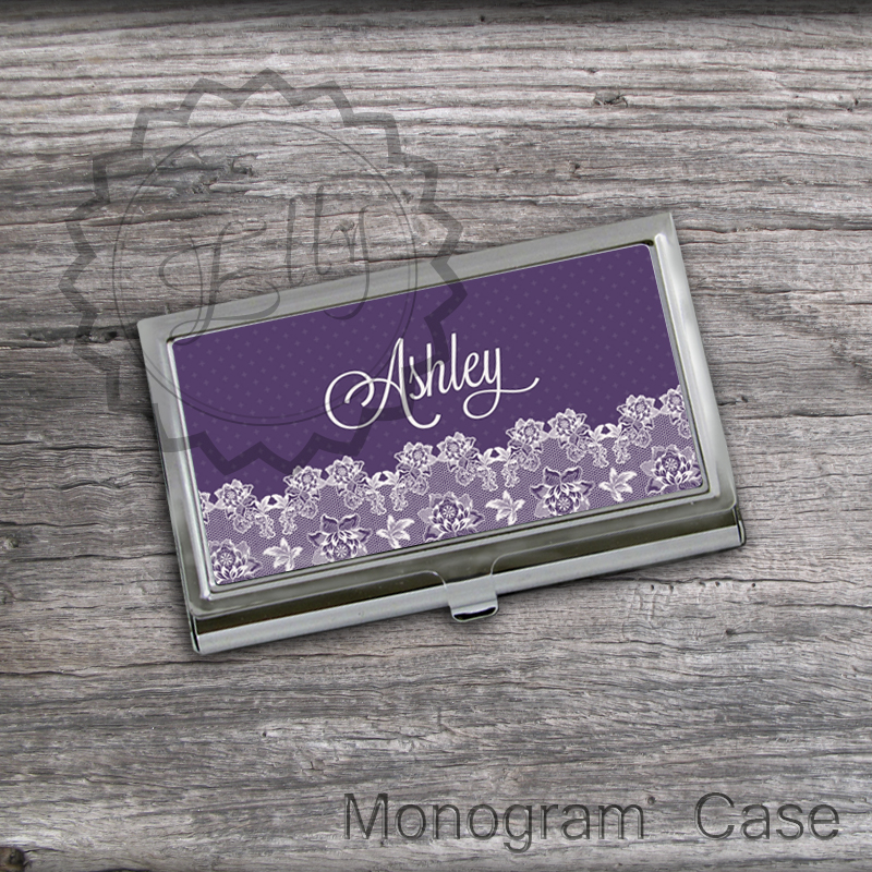 Personalized Business Card Holder - Customized Lady card keeper case, design office card holder