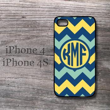 iPhone Yellow , Monaco blue and Grayed jade Lemon zest chevon monogram snap on hard cover