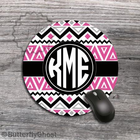 Design Computer Mousepad - Aztec Inspired Pattern Customized office desk accessory, personalized computer mat