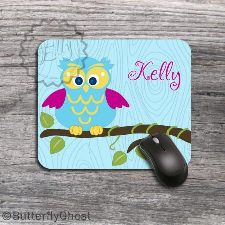 Owl Cusomized Computer Mousepad - Unique desk accessory gift, office boss gift, personalized funny mousepad