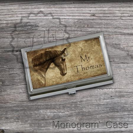 Custom Card Holders - Horse design Business Cardholders, Card case holder, office accessory card keeper