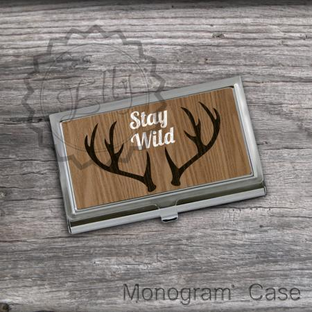Horns design Business card holder - Personalized Card Holder, card keeper case, steel card case, office boss gift