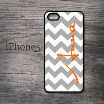 iPhone 5 personalized chevron with name hard case fmonogrammed cover
