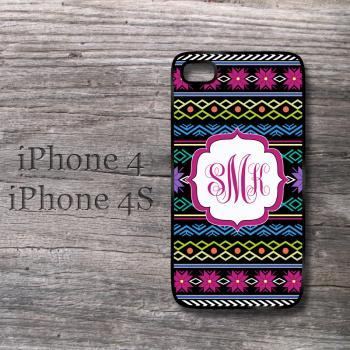 iPhone Knitting pattern personalized monogrammed snap on case for iPhone 4 4S case cute covers
