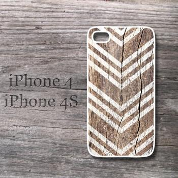 iPhone case vintage wood print chevron case cover geometric snap on case for iphone4/4S and 5
